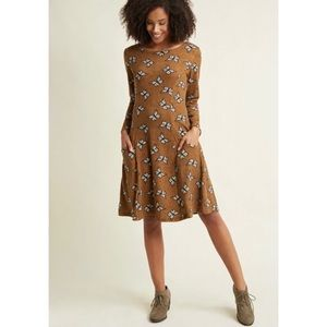 ModCloth Can't Wing Em All Butterfly Sweater Dress